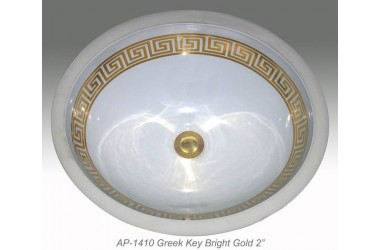 AP-1410 Greek Key 2 Bright Gold