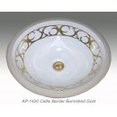 AP-1420 Celtic Border Burnished Gold