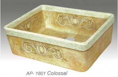 AP-1801 Colossal - Hand Painted Fireclay kitchen apron sink