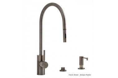 5300-3 PLP Contemporary Extended Reach Pulldown Kitchen Faucet Mini Suite 3 Piece