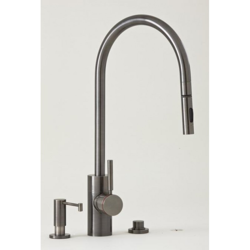 3 Piece Bathroom Sink Faucet : 5400-3 PLP Contemporary Pulldown Kitchen Faucet Mini Suite 3 Piece