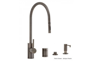 5300-4 PLP Contemporary Extended Reach Pulldown Kitchen Faucet Mini Suite 4 Piece