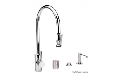 5700-4 PLP Extended Reach Pulldown Kitchen Faucet Mini Suite