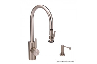 5930-2 Contemporary PLP Prep Pulldown Faucet Mini Suite