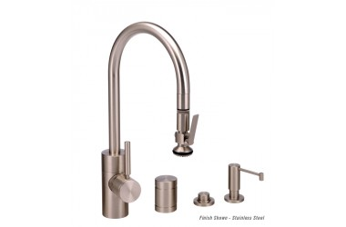 5930-4 Contemporary PLP Prep Pulldown Faucet Mini Suite